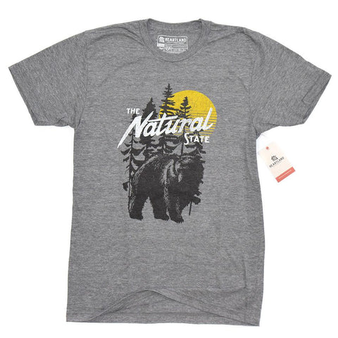 arkansas bear t-shirt grey heartland goods