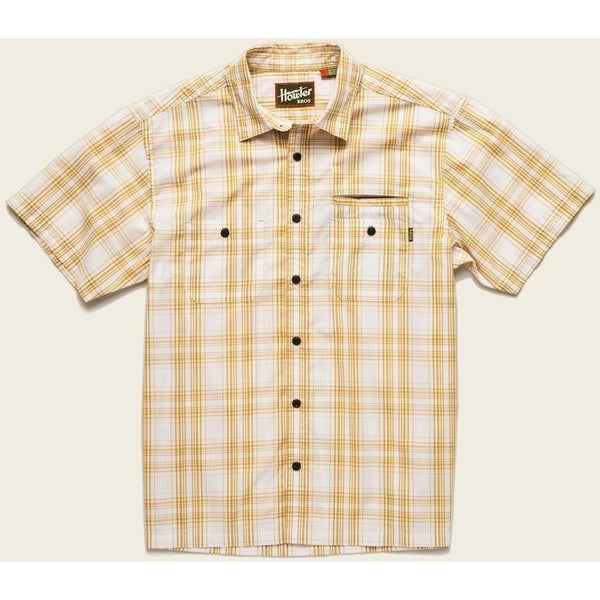 Howler Brothers Aransas Short Sleeve Shirt - Off White/Maize