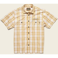 Howler Brothers Aransas Short Sleeve Button Up Shirt - Off-White/Maize