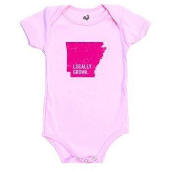 Arkansas Locally Grown Onesie - Pink