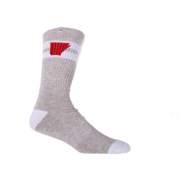 Tailgater Arkansocks in Ash Heather Red