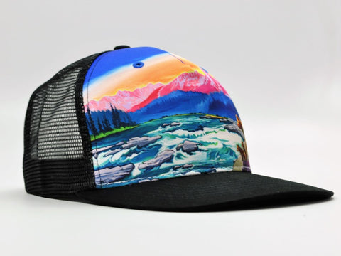 cirque american rivers trucker hat black