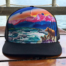 cirque american rivers trucker hat outdoors