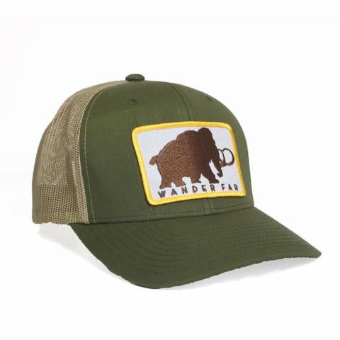 nativ trucker hat mammoth green tan