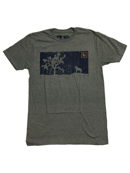 hippy tree t-shirt desert heather grey