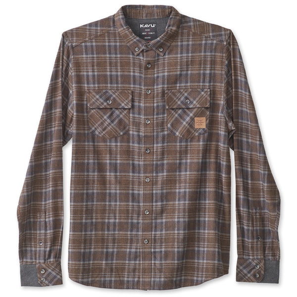 kavu buffaroni flannel shirt earth
