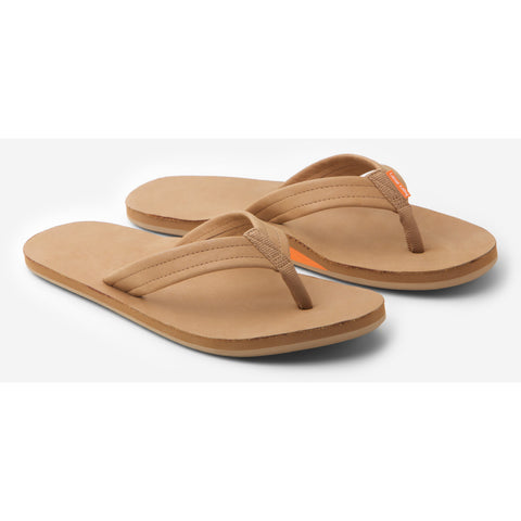 hari mari women's green and tan flip flops