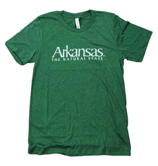 Arkansas The Natural State T-Shirt - Grass Green