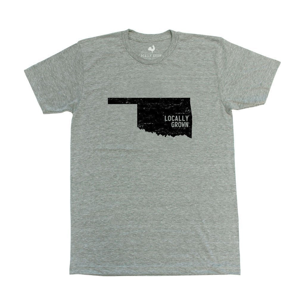oklahoma locally grown t-shirt grey
