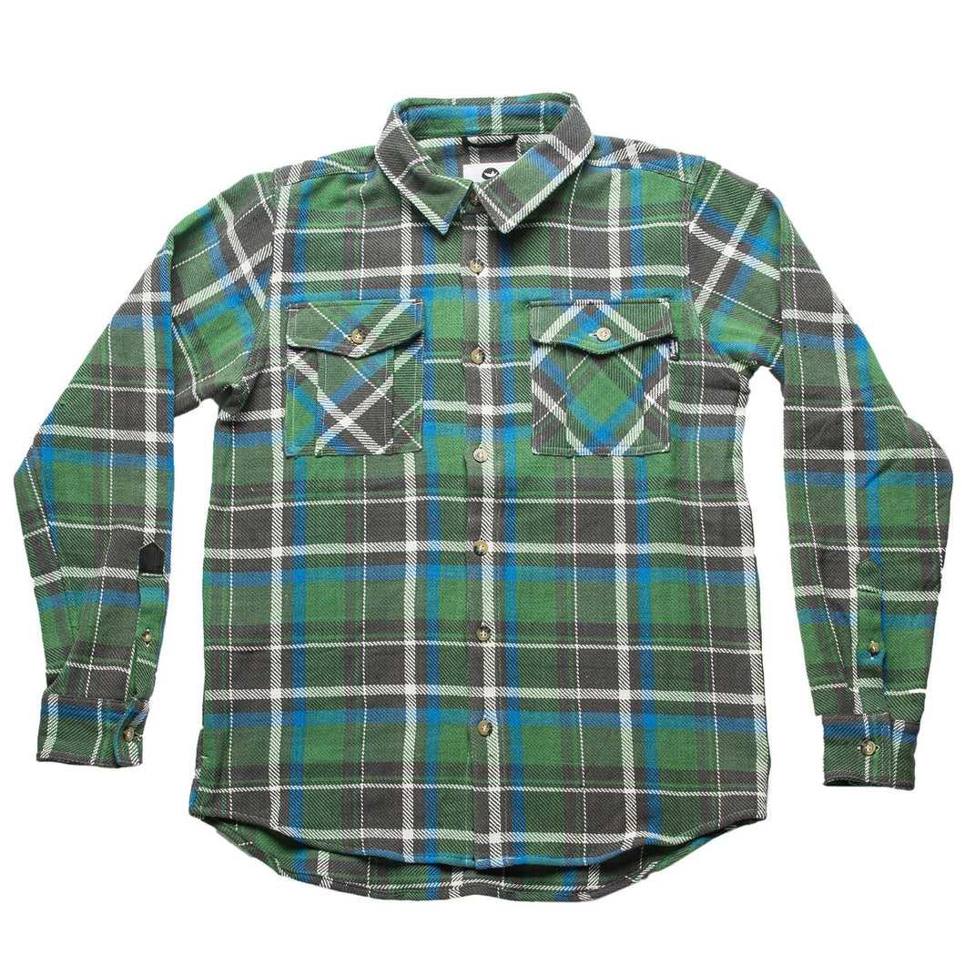 fayettechill gibson heavy flannel green blue
