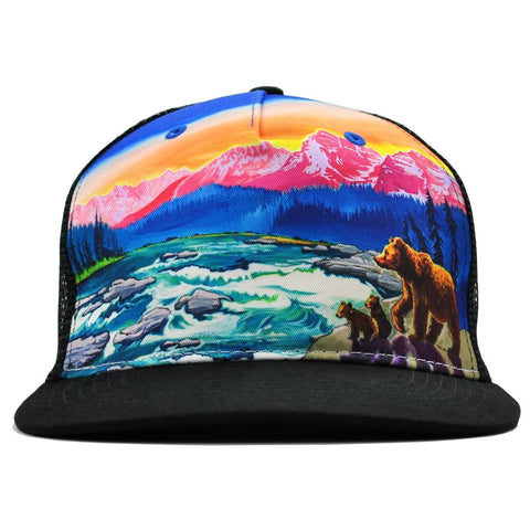 cirque american rivers trucker hat rachel pohl art