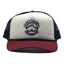 fayettechill mountain tide trucker red cream
