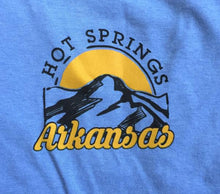 hot springs arkansas mountain t-shirt log