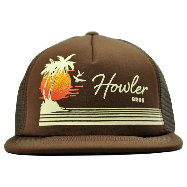howler brothers bimini trucker hat brown