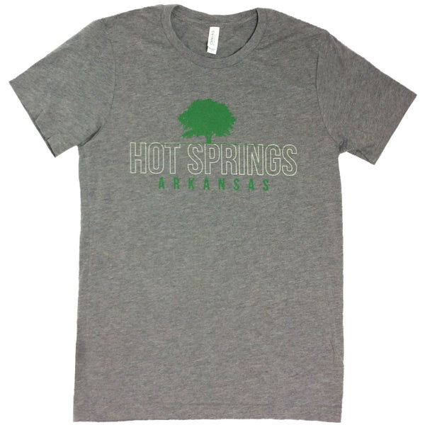 Hot Springs Arkansas T-Shirt - Heather Gray