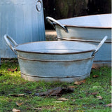 rustic round farm tub 1