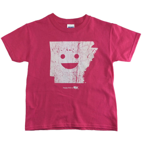 Happy State Arkansas T-Shirt Pink