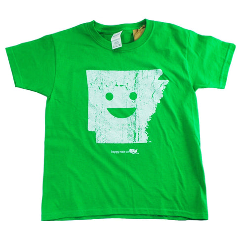 green youth happy state Arkansas t-shirt