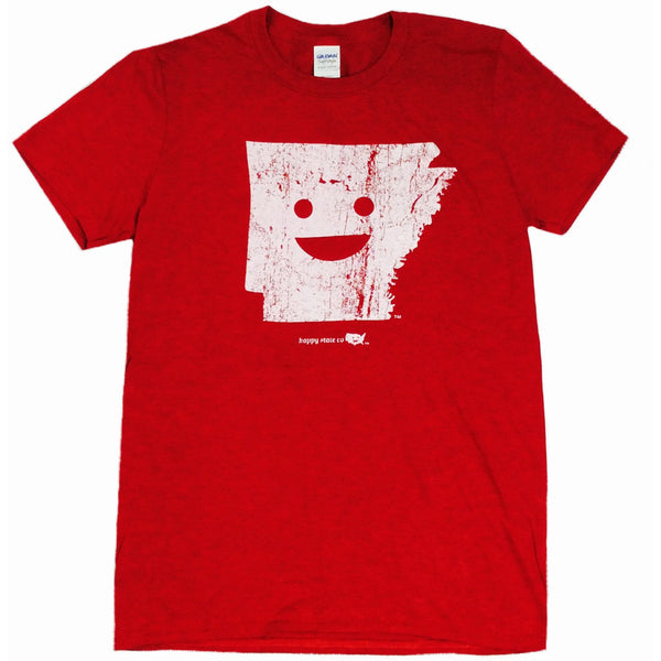 Happy State Arkansas T-Shirt Red