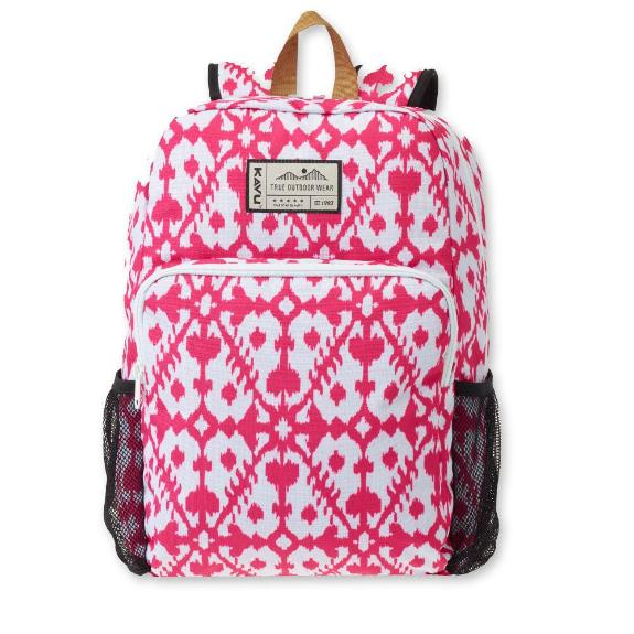 kavu field trip backpack pink blot front