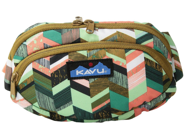 Kavu spectator waist pack coastal blocks