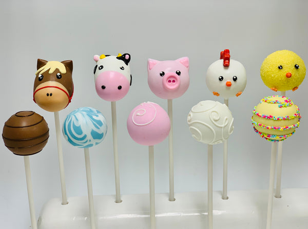 Farm Animals Set (10 cake pops)