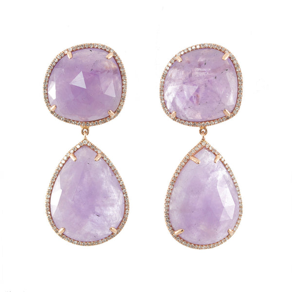 Cape Amethyst Dangle Earrings