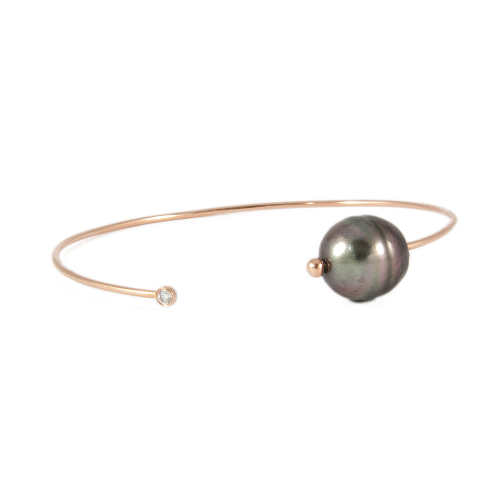 Diamond Pearl Bangle