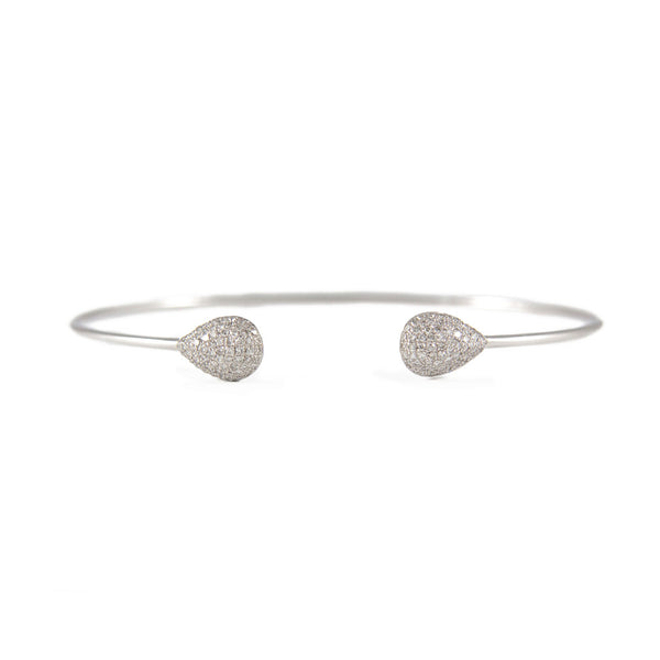 Diamond Teardrop Bangle