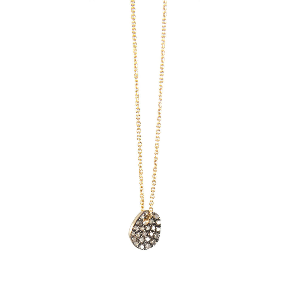 Wavy Diamond Dot Necklace