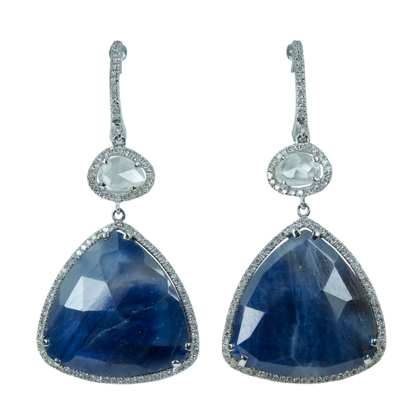 Blue Sapphire Teardrop Earrings