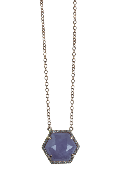 Cape Amethyst Hexagon Necklace