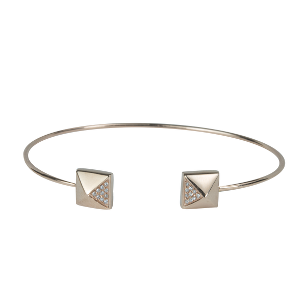 Diamond Pyramid Cuff Bracelet