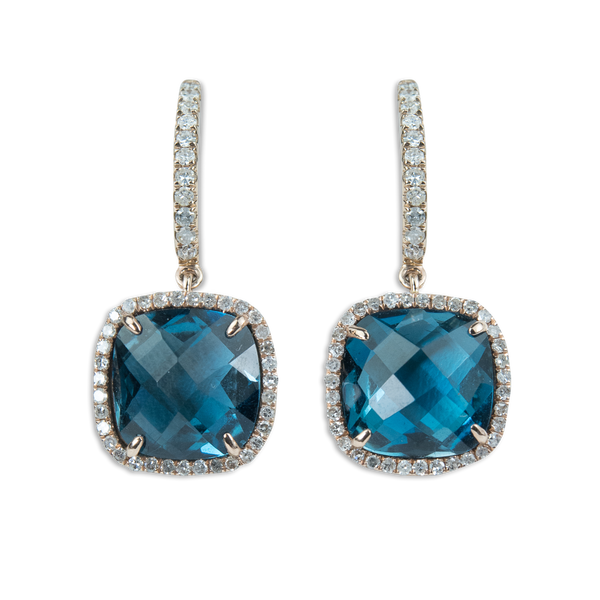 London Blue Drop Earrings