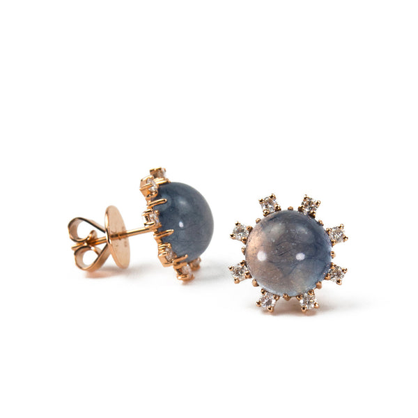 Blue Rubellite Earrings