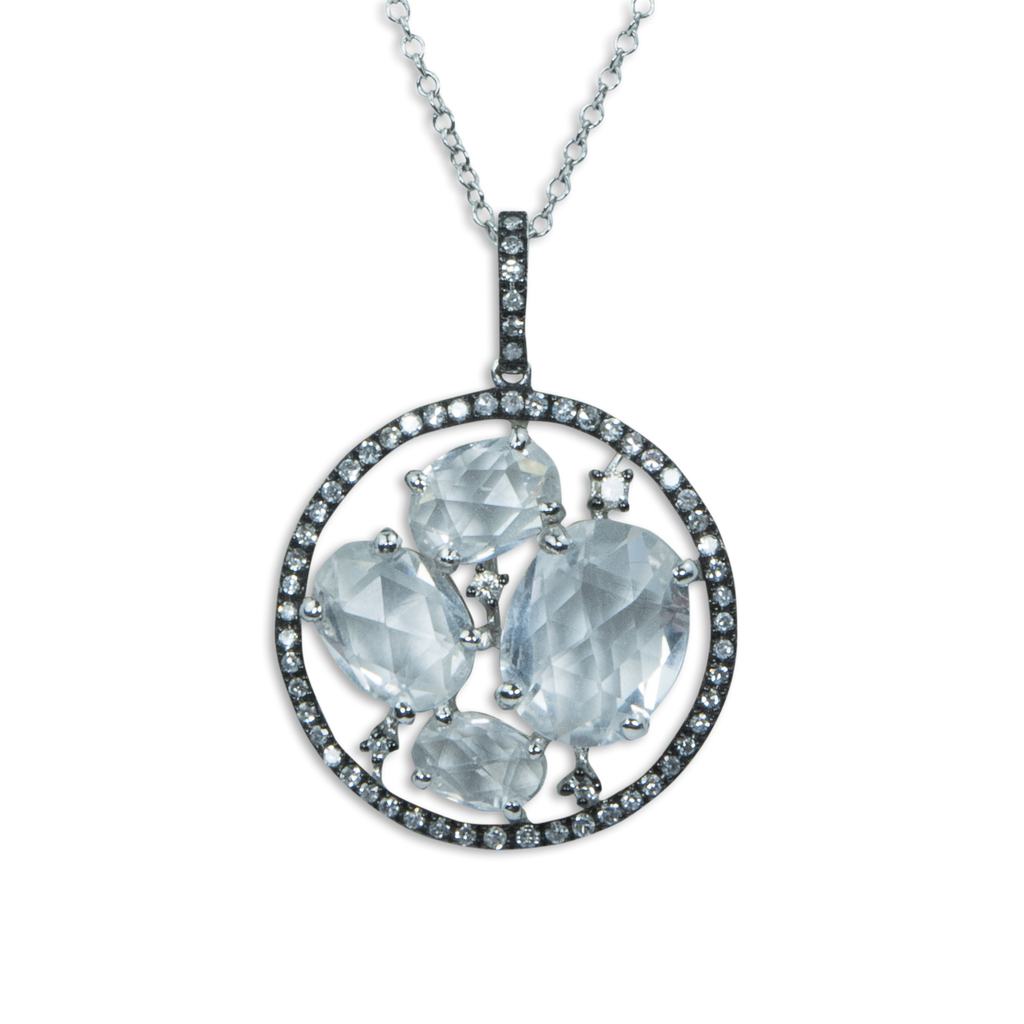 White Topaz Pendant Necklace