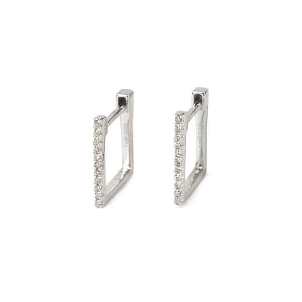 Square Huggie Earrings