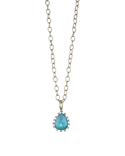 London Blue Teardrop Necklace