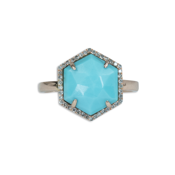 Tourquoise Hexagon Ring