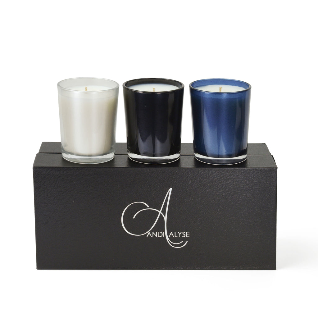 3 votive candle set