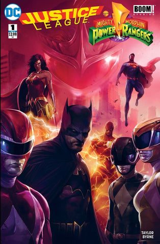 Justice League vs Power Rangers #1 Trade Dress