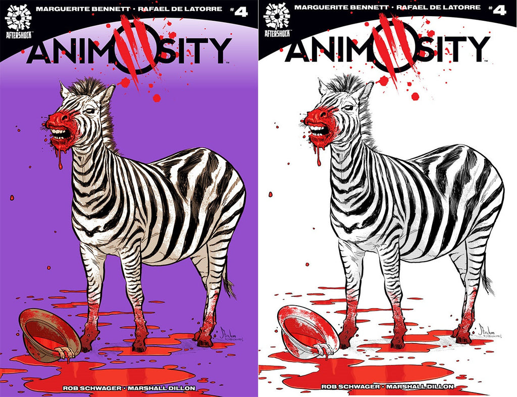 ANIMOSITY #4 EXCLUSIVE KYLE STRAHM COLOR & BW VARIANT SET 175/75  PRINT RUN