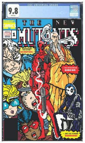 New Mutants #98 Homage 8-bit