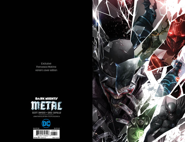 Dark Nights Metal #6 Shattered Glass Virgin Set
