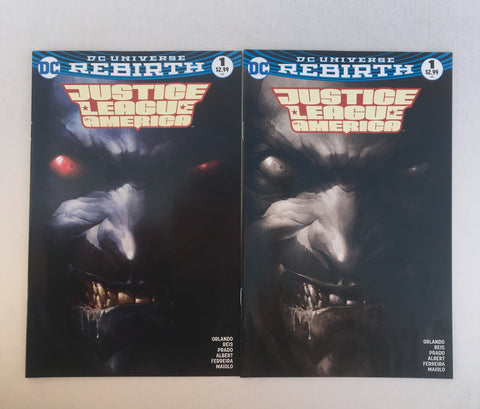 Justice League of America #1 Black & White Set