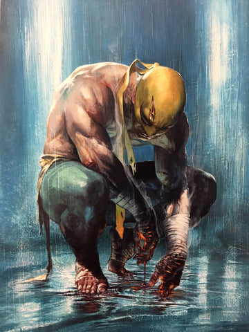 Iron Fist #1 Gabriele Dell'Otto Color B&W Virgin Variant Set