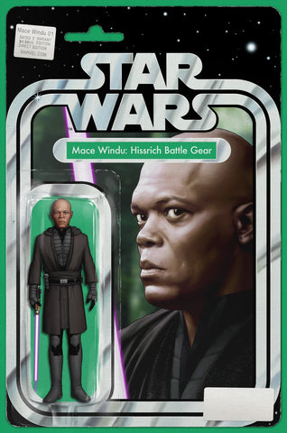 MACE WINDU CHRISTOPHER ACTION FIGURE COMIC BOOK