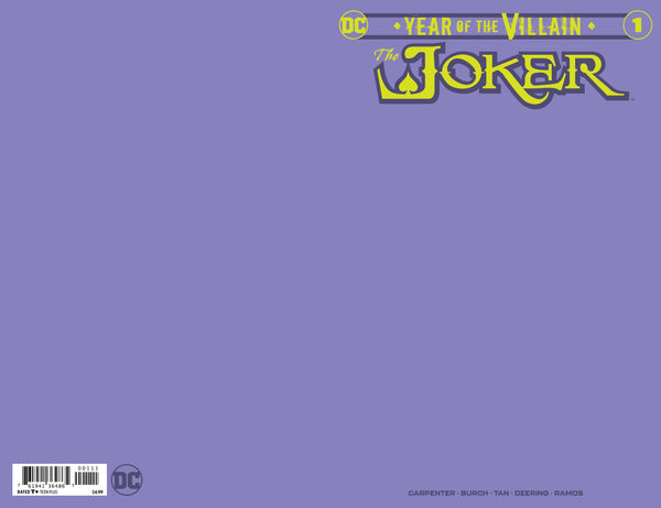 Joker Year of the Villain #1 Purple Blank