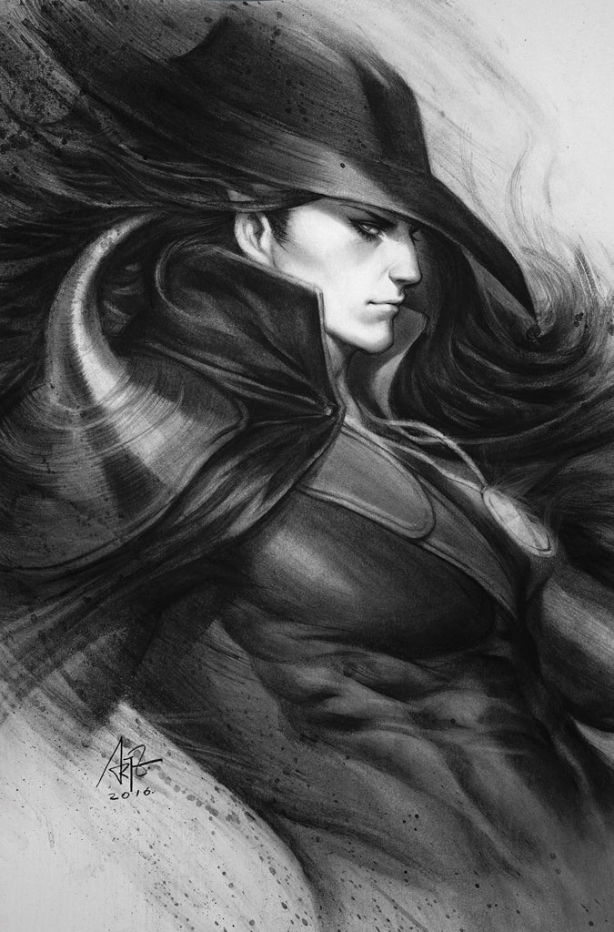 Vampire Hunter D Message Mars #1 Frankie's Comics Artgerm Variant Black & White