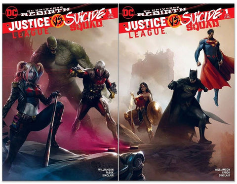 JUSTICE LEAGUE SUICIDE SQUAD #1 FRANCESCO MATTINA CONNECTING VARIANT SET COLOR